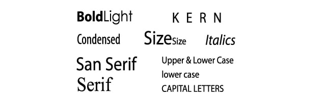 brand Typeface and Typestyle guide